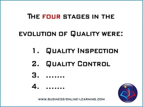 Distance Mba In Quality Management by Quality Management Concepts