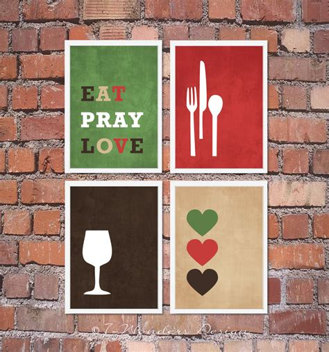 image gallery modern kitchen wall art modern kitchen wall art print set inspirational eat pray