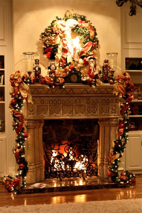 christmas fireplace decorating ideas christmas fireplace decoration interior designing ideas