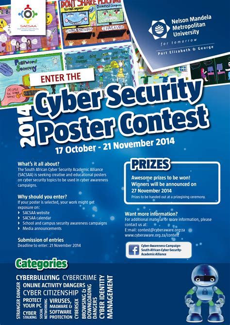 design a competition poster poster contest south african cyber security academic