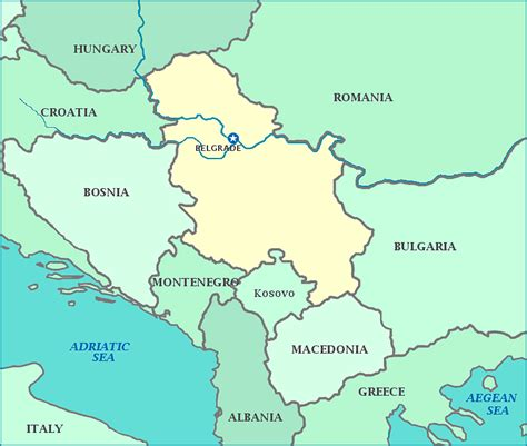 Serbia Vs Thåy S Map Of Serbia Serbia Map Shows Cities The Danube River