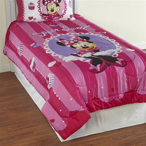 Minnie Mouse Comforter Set disney minnie mouse pink comforter sheets bedding linens set bedroom ebay