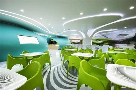 futuristic interior design cafe karim rashid 187 retail design blog