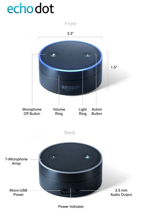 amazon echo dot amazon echo dot 2nd generation comes in black or white