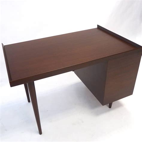 sleek desk sleek mid century modern jens risom three drawer mahogany
