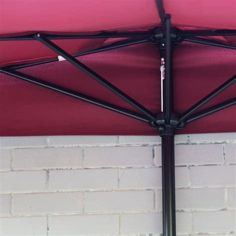 corner patio umbrella half 5 ribs 10ft outdoor patio umbrella wall corner