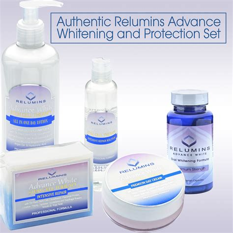 Day Whitening authentic relumins advance day whitening and protection set