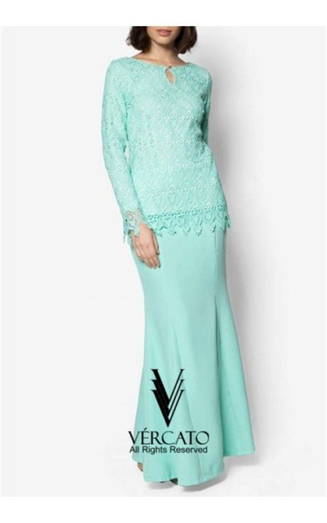 Baju Dress New 2017 baju kurung moden lace with keyhole vercato elsa in mint green healthy lunches