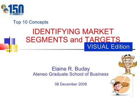 Ateneo Mba Requirements by Chapter 8 Visual Market Segments Targets