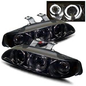 95 Honda Civic Headlights 92 95 Honda Civic 4dr Halo Projector Headlights Smoke