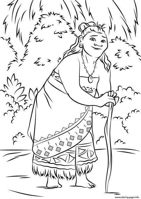 disney moana coloring pages gramma tala from moana disney coloring pages printable