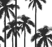 black  white exotic tropical palm trees stickers