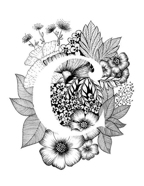 tattoo fonts with flowers best 25 letter c ideas on