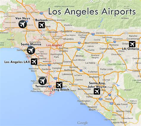 map airports airports los angeles map indiana map