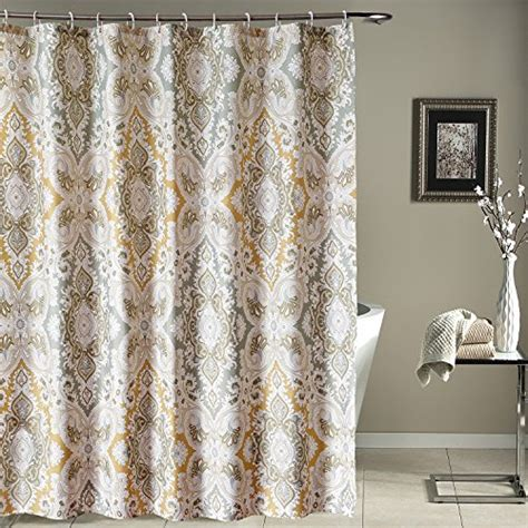 Gray Brown Curtains Decor New Lanmeng Fabric Shower Curtain Classic Paisley Design Grey Beige Light Brown