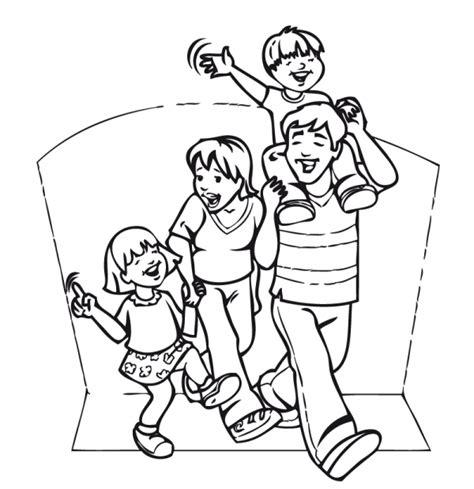 imagenes de una familia en blanco y negro familia de 6 integrantes para colorear imagui