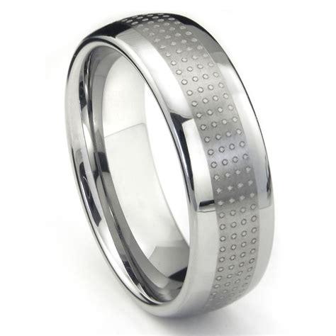 Wedding Band Tungsten Carbide by Tungsten Carbide Polka Wedding Band Ring