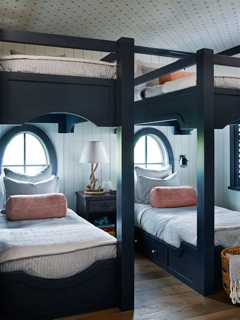 room bunk beds shingle style house with classic coastal interiors home bunch interior design ideas