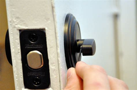 How To Install Door Knob On New Door by How To Install A New Door Knob And Deadbolt One Project