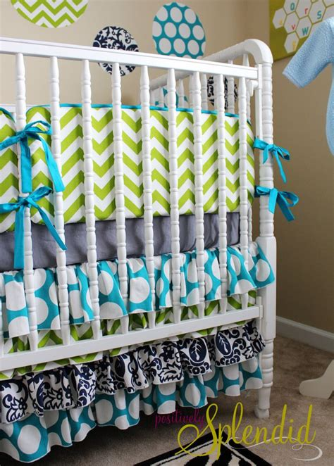 Ruffled Crib Skirt Tutorial Nursery Bedding Reveal Crib Bedding Tutorial