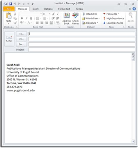 email format standard free download outlook signature files font size programs