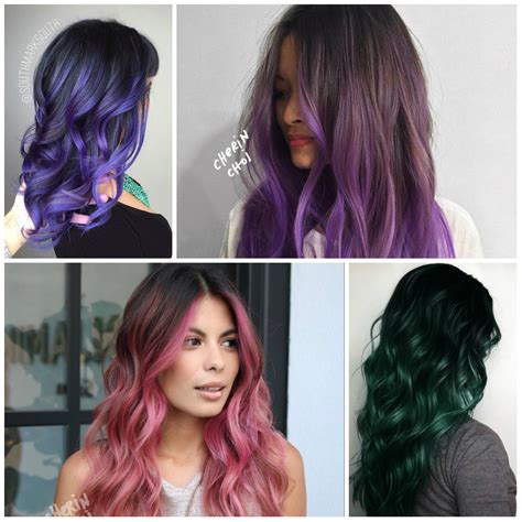 what trending in hair color inspiring ombre hair colors for 2018 new hair color
