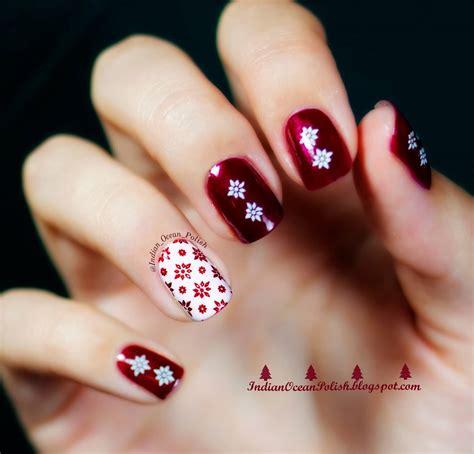 christmas pattern nails 50 christmas nail art ideas