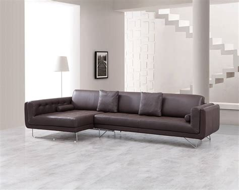 Luxury Leather Corner Sectional Sofa With Pillows Luxurious Leather Sofas