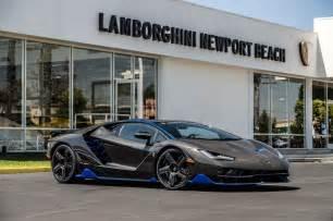Lamborghini European Delivery Lamborghini Centenario Delivered To U S Customer