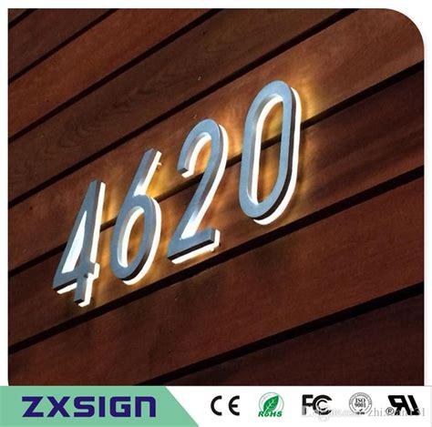 light up address numbers illuminated house signs medium pasadena illuminated number