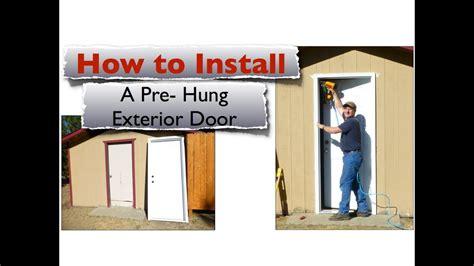 install  exterior door youtube