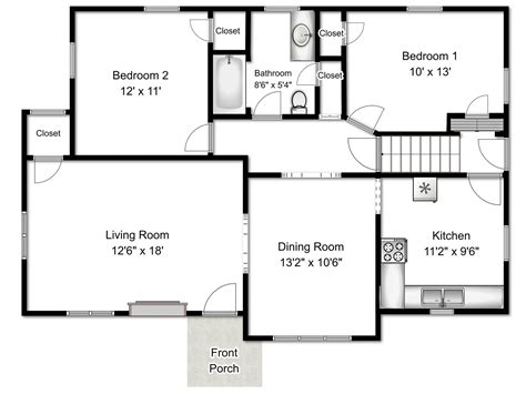 basic floor plan floor plans estate photography floor plans