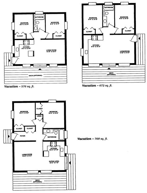 small cabin floor plans guest cottage pinterest