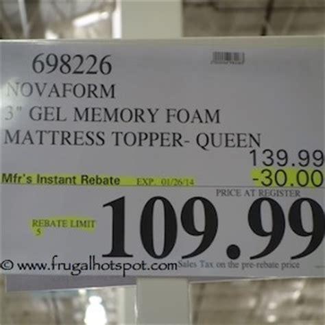 Gel Mattress Topper Costco by Costco Sale Novaform 3 Quot Gel Memory Foam Mattress Topper