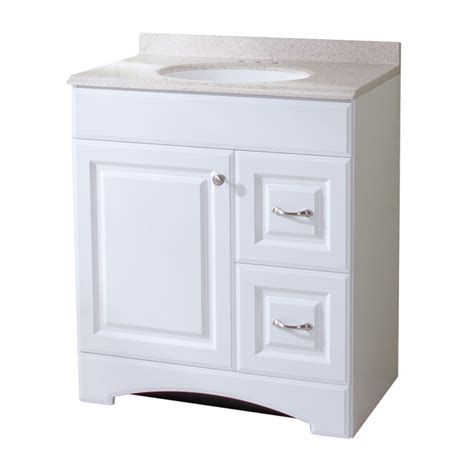 18 Bathroom Vanity And Sink Shop Style Selections Almeta 30 In X 18 In White Integral Single Sink Bathroom Vanity With