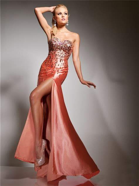 Longdress Set 2in1 Glitter Pink sheath sweetheart coral silk glitter evening prom dress with beading sequins