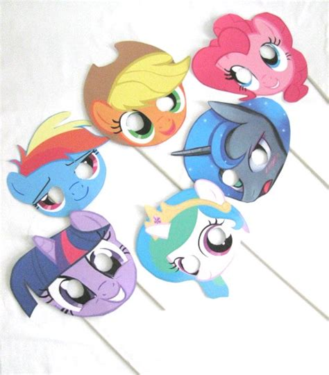 printable mask my little pony 7 best images of my little pony masks printable free my