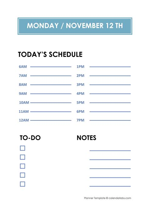 daily hourly planner template  printable templates
