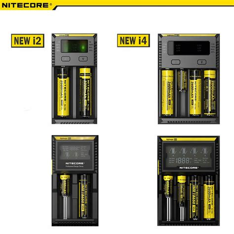 Charger Nitecore I4 New Version 2016 For 18650 Aa 14500 26650 4 Slot genuine nitecore intellicharge i2 i4 d2 d4 18650 26650