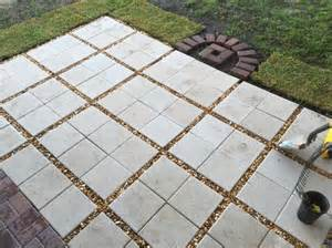 12x12 Patio Pavers Almost Done Paver Patio Diy 12x12 Pavers With Gravel