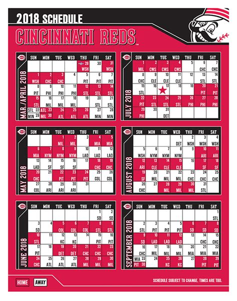 2018 White Sox Printable Schedule