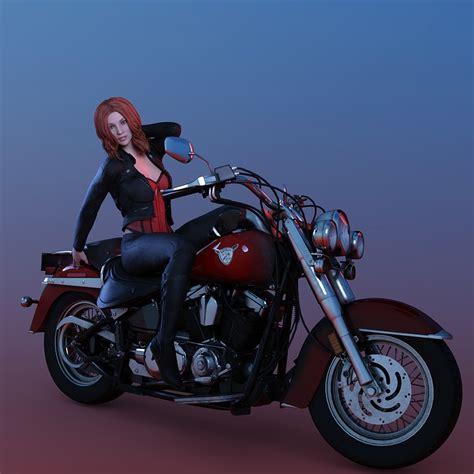Frauen Motorrad Modelle by Kostenlose Illustration Frau Pose Leder Motorrad