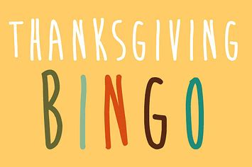to play at the dinner table thanksgiving bingo to play at the dinner table