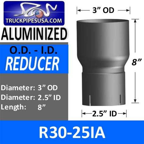 Reducer Tembaga 2 5 8 Inch X 5 8 Inch exhaust reducers reducer 3 od x 2 5 id x 8 aluminized