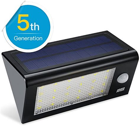 solar led sensor light solar lights amir solar powered motion sensor light