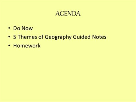 5 Themes Of Geography Guided Notes | 5 themes of geography