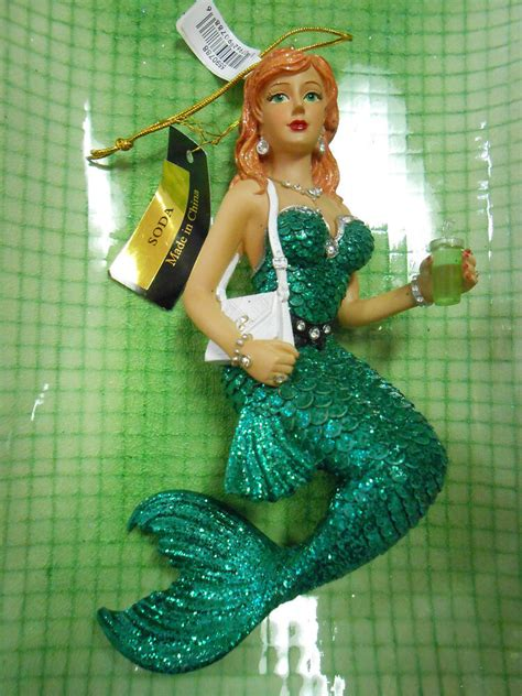 mermaid ornaments december diamonds mermaid ornament soda nib retired ebay