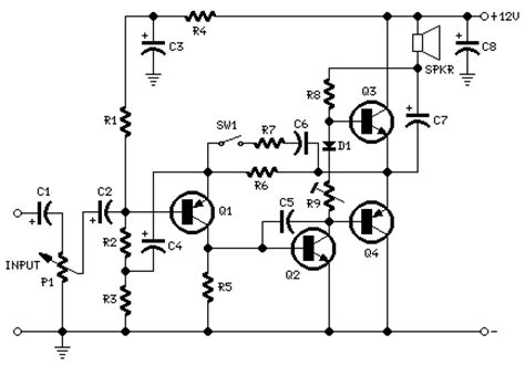 2 watt mini audio lifier based transistors