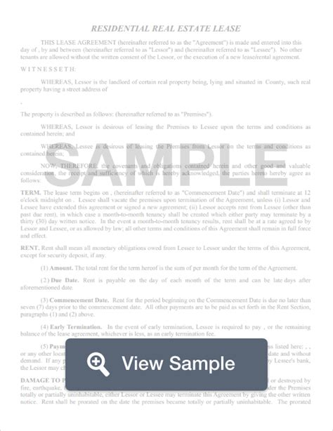 Lease Agreement Create Download For Free Formswift No Shop Agreement Template