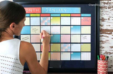 Diy Erase Calendar Diy Erase Calendar Everyday Dishes Diy